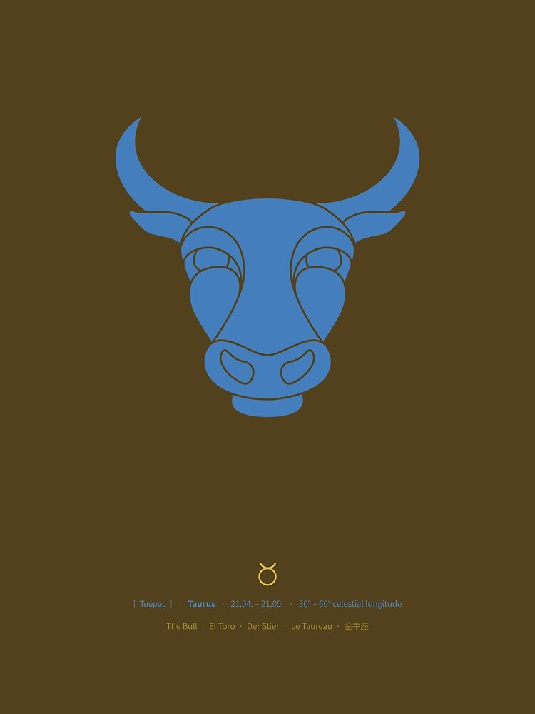 Taurus Zodiac / Bull Star Sign Poster by Thoth-Adan