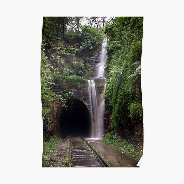 Urban Waterfall Poster