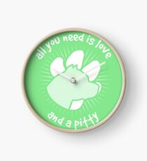 All you need is love and a PITTY - Green Clock