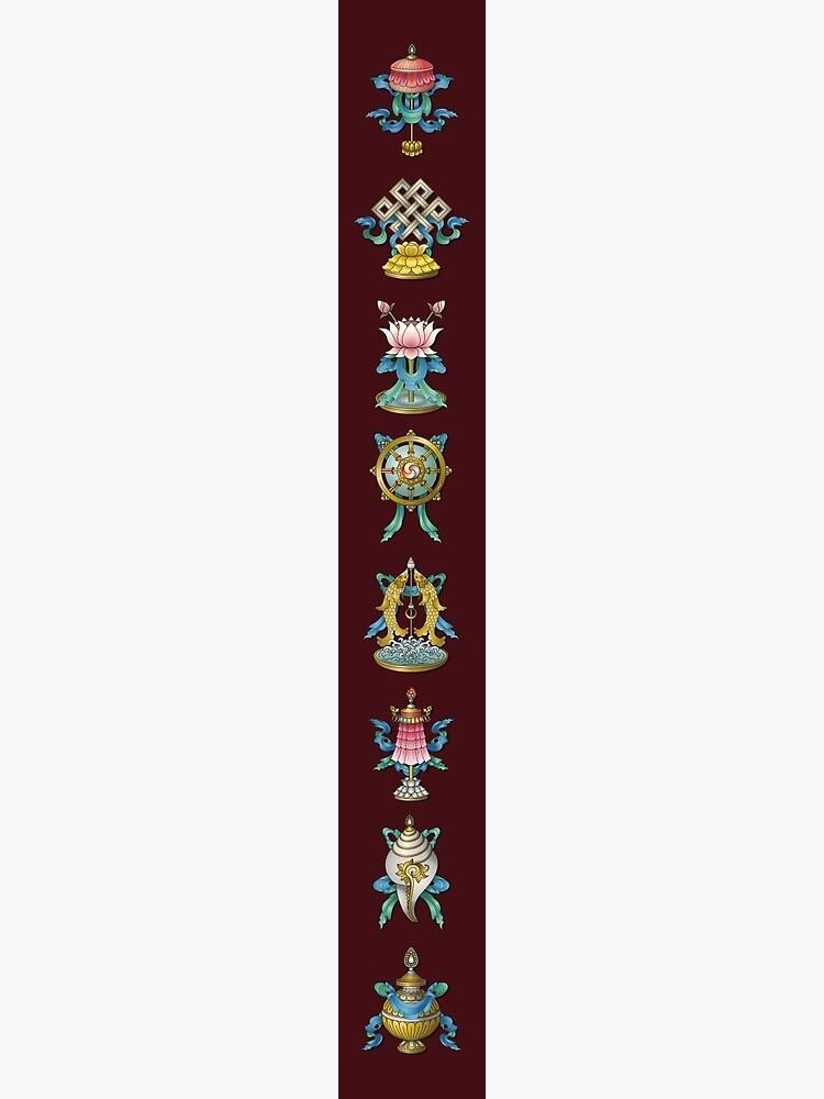 Ashtamangala Eight Auspicious Signs by Thoth-Adan