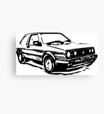 VW Golf Mk2 Canvas Print
