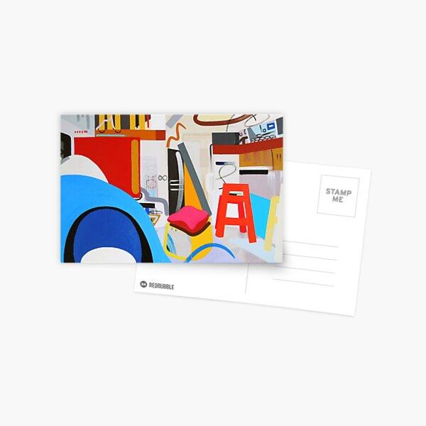 Abstract Interior Art Print Postcard