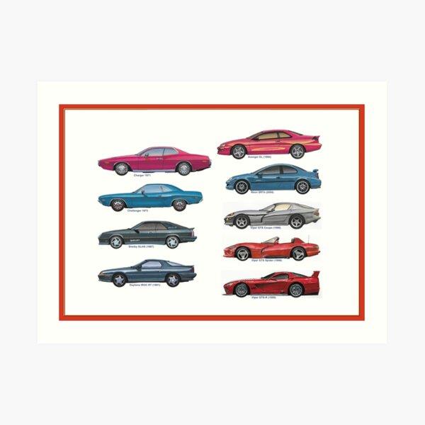 American sportcars 3 Art Print
