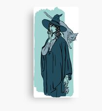 Green witch Canvas Print