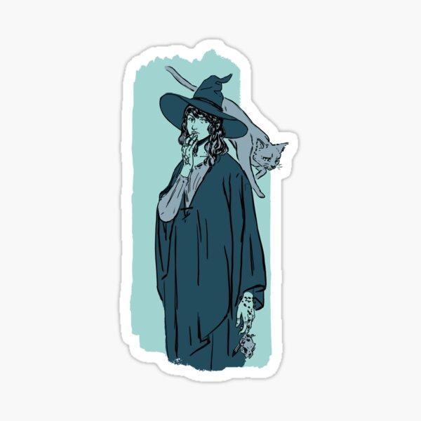 Green witch Sticker
