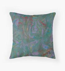 Marble Swirls Throw Pillow