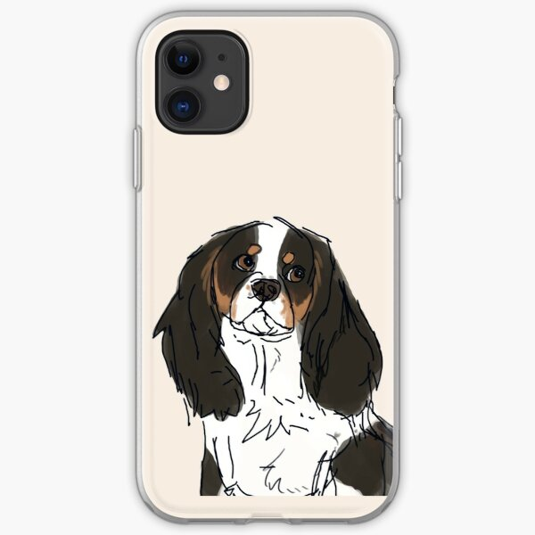 Tricolour Cavalier King Charles iPhone Soft Case