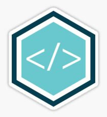 Code - TutorialEdge.net Logo Sticker