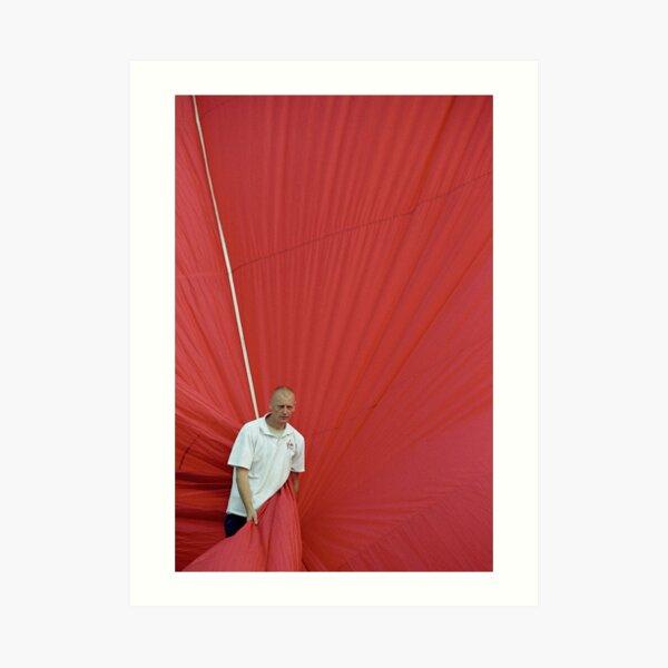 Hot air: Man in red Art Print