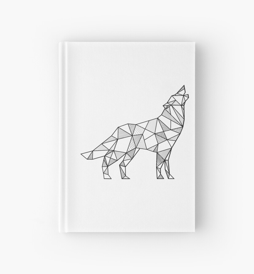 """Howling Wolf Geometric"" Hardcover Journals by alcateiaart ..."
