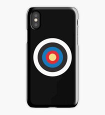Bulls Eye, Target, MOD, Roundel, on BLACK iPhone Case