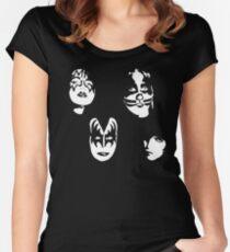 KISS - STENCIL - ART Women's Fitted Scoop T-Shirt