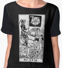 Death Tarot Card - Major Arcana - fortune telling - occult Women's Chiffon Top