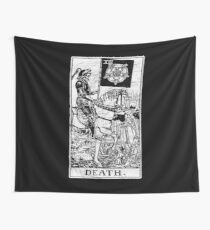 Death Tarot Card - Major Arcana - fortune telling - occult Wall Tapestry