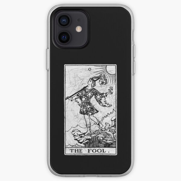 The Fool Tarot Card - Major Arcana - fortune telling - occult iPhone Soft Case
