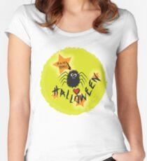 Hairy Boris Loves Halloween! Women's Fitted Scoop T-Shirt