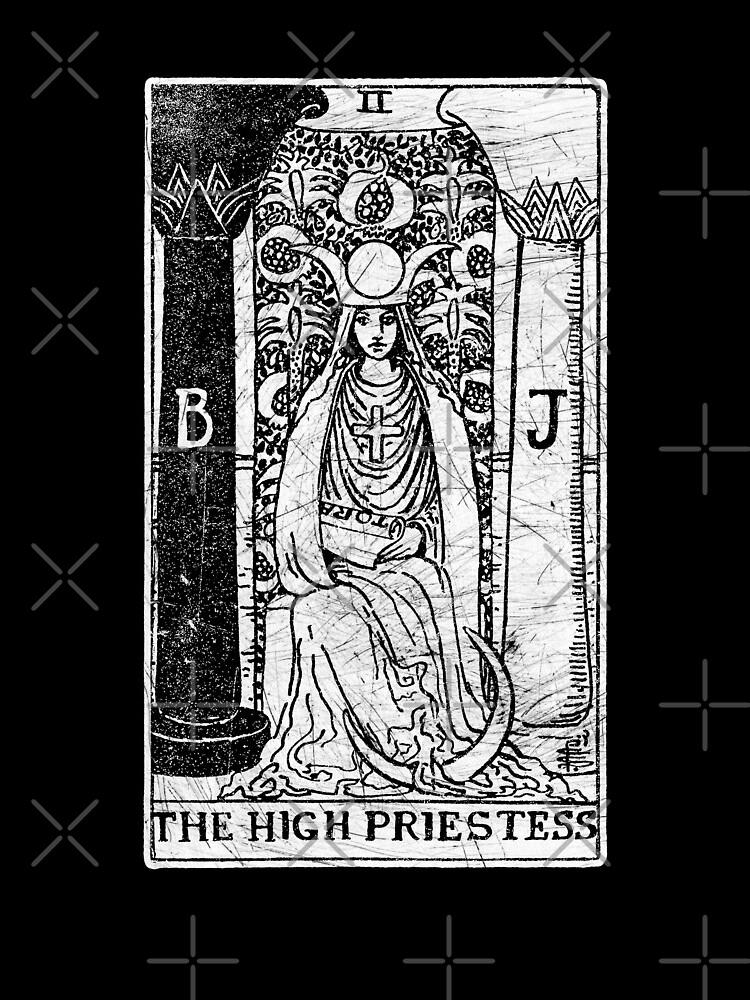 Die Hohepriesterin Tarot Card - Major Arcana - Wahrsagerei - okkult von createdezign