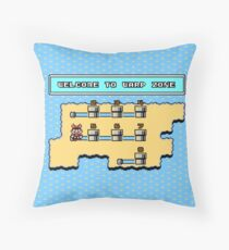 Welcome To Warp Zone Throw Pillow