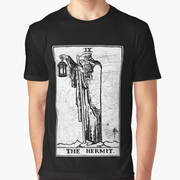 The Hermit Tarot Card - Major Arcana - fortune telling - occult Graphic T-Shirt