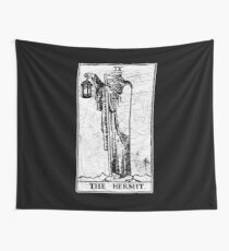 The Hermit Tarot Card - Major Arcana - fortune telling - occult Wall Tapestry
