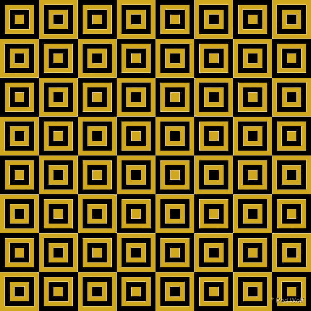 Geometric Pattern: Square Strobe: Yellow by * Red Wolf