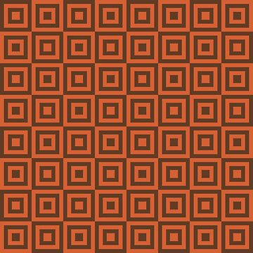 Geometric Pattern: Square Strobe: Orange by redwolfoz