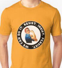 Rosie the Riveter RESIST INSIST PERSIST Unisex T-Shirt