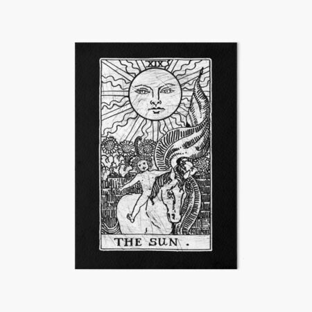 The Sun Tarot Card - Major Arcana - fortune telling - occult Art Board Print