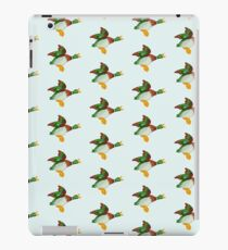 Home Sweet Home - Flying Mallard Duck Repeating Pattern iPad Case/Skin