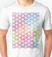 Geometric Fractal Triangles Bubblegum Rain T-Shirt