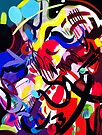 Psych Abstract by Lisa V Robinson