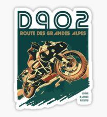 D902 Route des Grandes Alpes Motorcycle T-Shirt Design S01 Sticker