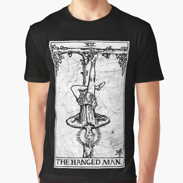 The Hanged Man Tarot Card - Major Arcana - fortune telling - occult Graphic T-Shirt
