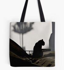 Cat and Shadows Tote Bag