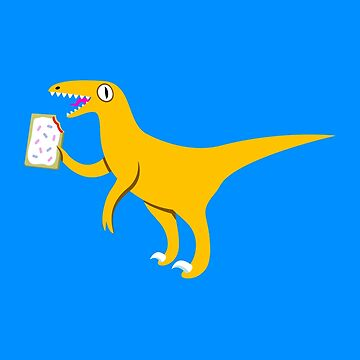 A Velociraptor Holding A Poptart by amorphia