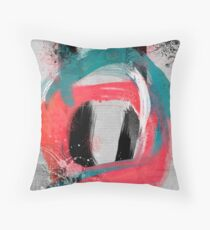 blue meets pink on a cloudy day Throw Pillow