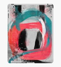blue meets pink on a cloudy day iPad Case/Skin