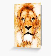 lion art #lion #animals Greeting Card