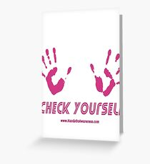 American cancer society greeting cards redbubble check yourself for breast cancer awareness greeting card m4hsunfo