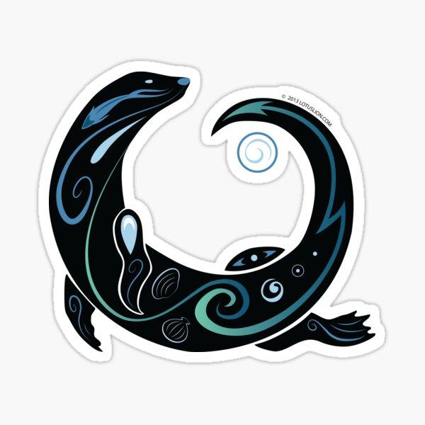 Otter Spiral Sticker