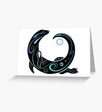 Otter Spiral Greeting Card