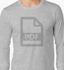 PDF, File Type, Self Identify, Postscript Document File Long Sleeve T-Shirt