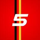 sebastian vettel 5 logo and German stripes by david-satrio
