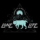 Wolf Lone Life Serenity in Solitude by barrettbiggers