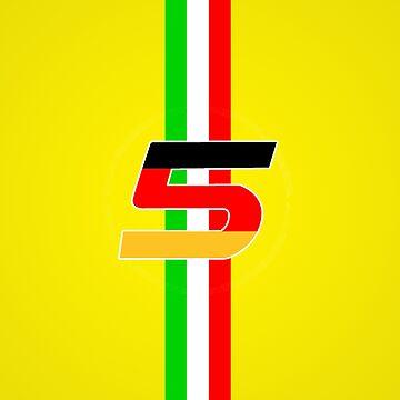 sebastian vettel 5 yellow by david-satrio