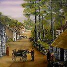 Old Irish Village by Avril Brand