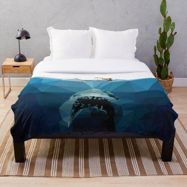 Polygon Jaws Throw Blanket