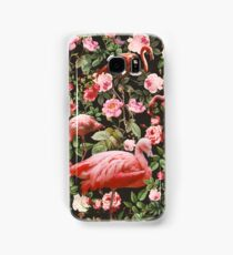 Floral and Flamingo Pattern Samsung Galaxy Case/Skin