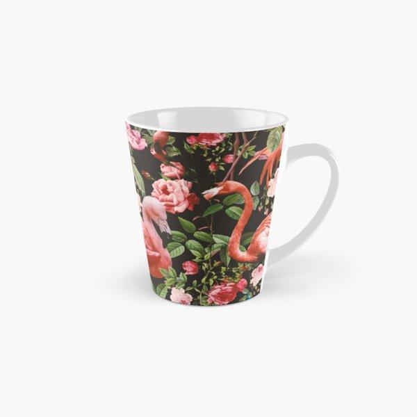 Floral and Flamingo Pattern Tall Mug