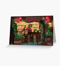 Zombie Shop Greeting Card